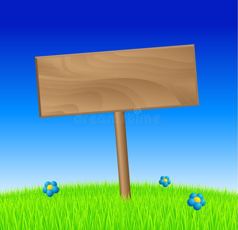 Spring wood sign royalty free illustration