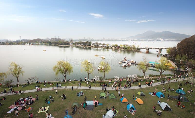 Spring of Xuanwu Lake in Nanjing stock photo