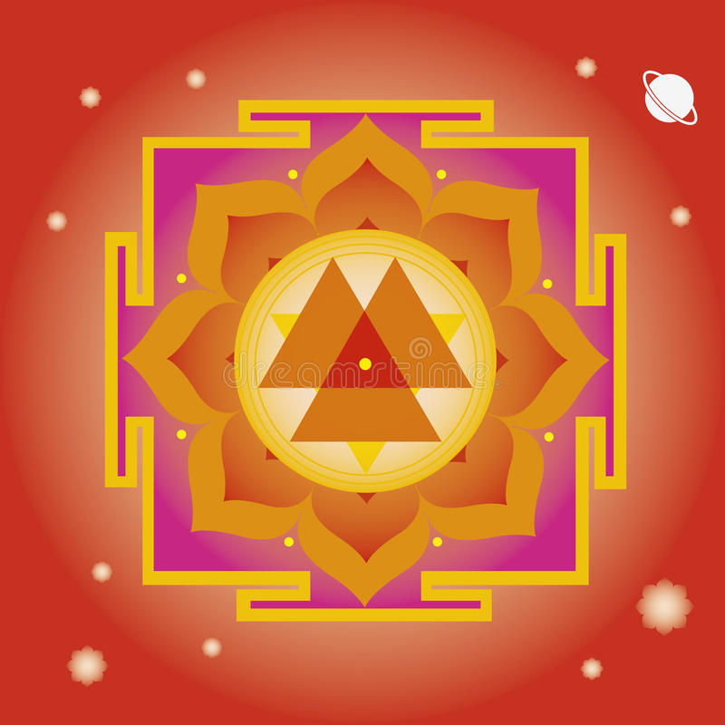 Download Spring Yantra For  Wellbeing Stock Vector - Illustration: 29067915