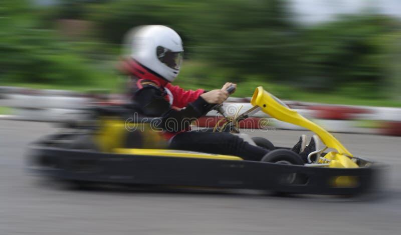 Springa för hastighetsgokart royaltyfria bilder