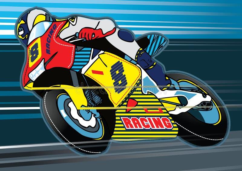 Springa för moped stock illustrationer