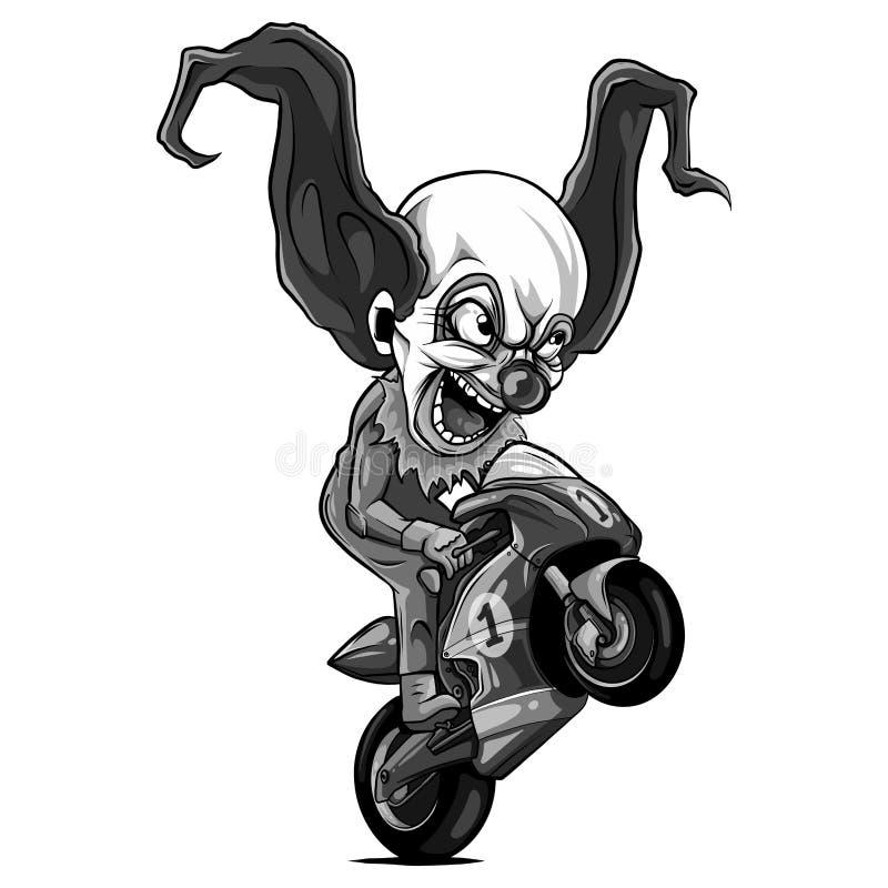 Springa för ryttare för motorcykel för cyklist för vektorillustrationWheelies royaltyfri illustrationer