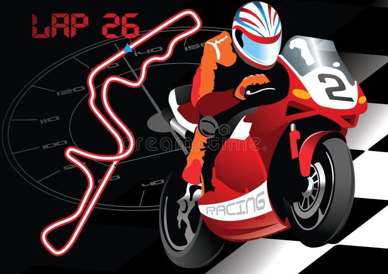 Springa för vägcykel. stock illustrationer