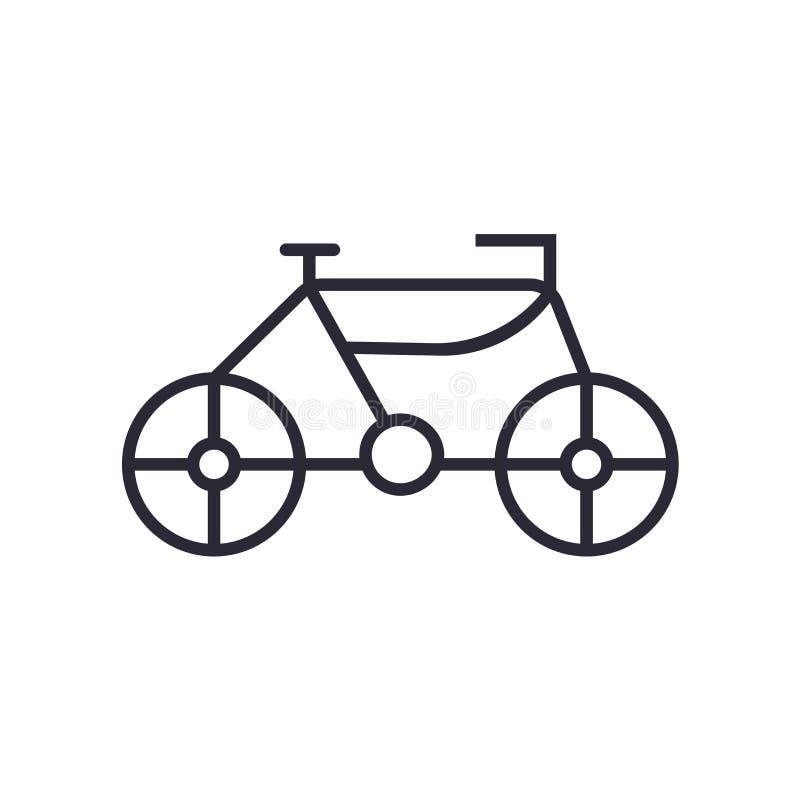 Springa tecknet och symbolet för cykelsymbolsvektor som isoleras på vit bakgrund som springer cykellogobegrepp stock illustrationer