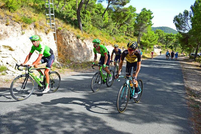 Springa upp en kulleLa Vuelta España royaltyfria foton