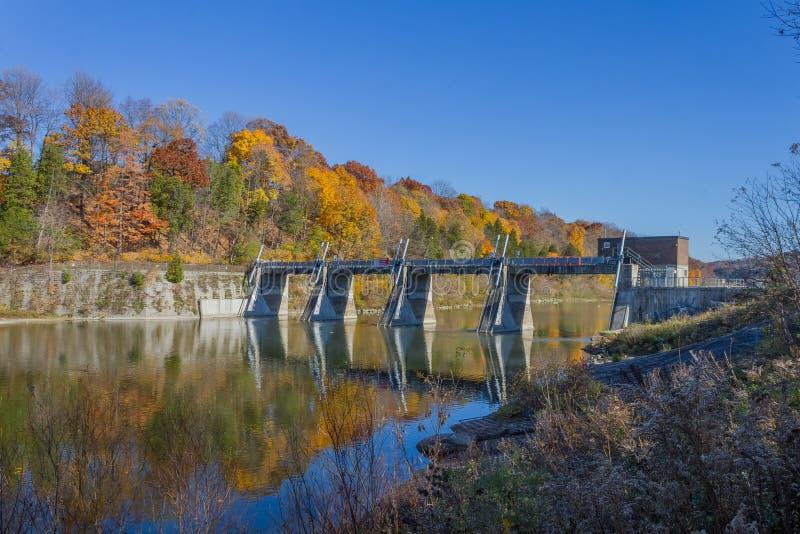 Springbank水坝 图库摄影