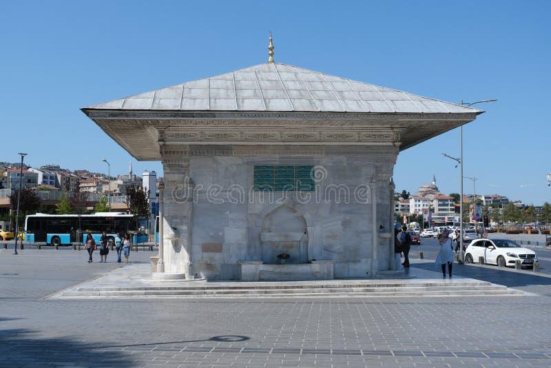 Springbrunn av Ahmed III Uskudar Istanbul Turkiet royaltyfri fotografi