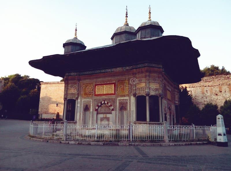 Springbrunn av Ahmet III sultan 3 Ahmed à ‡ eÅŸmesi royaltyfri bild