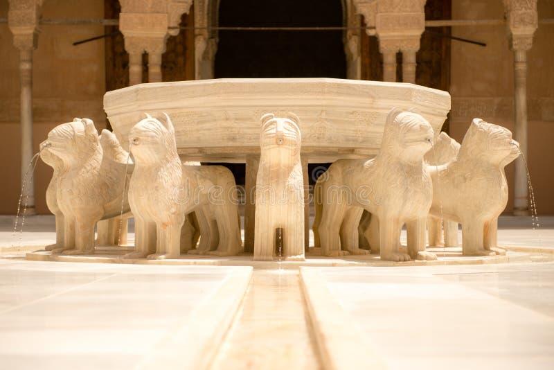 Springbrunn av lionsna royaltyfri fotografi