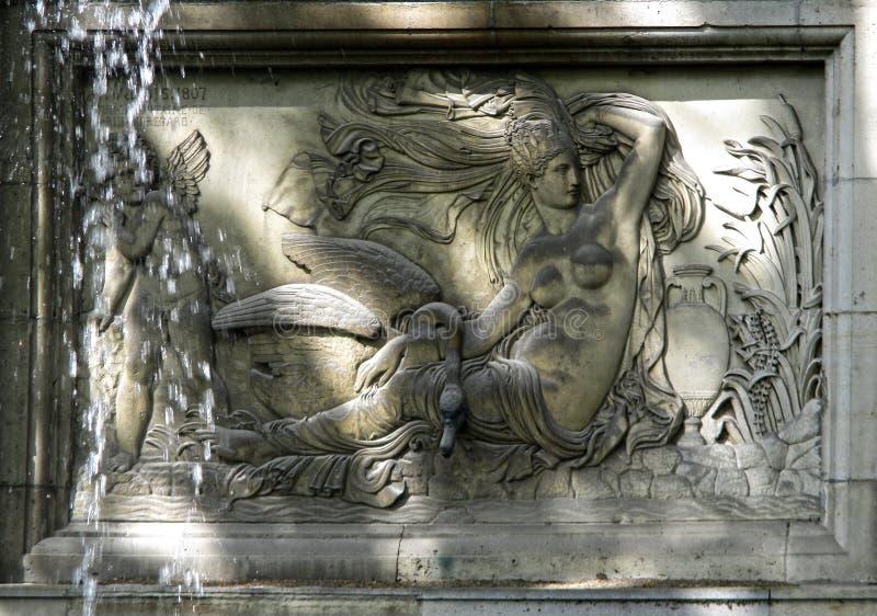 Springbrunn av Medici, Paris arkivbilder