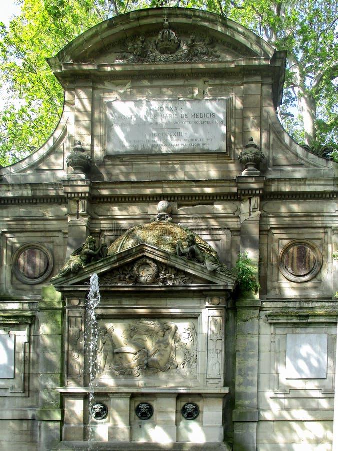 Springbrunn av Medicien, Paris royaltyfri bild