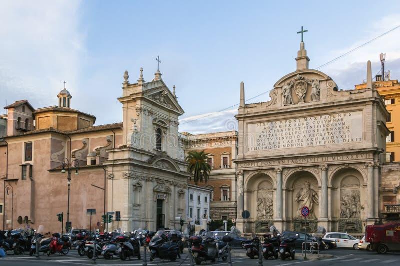 Springbrunn av Moses, Rome fotografering för bildbyråer