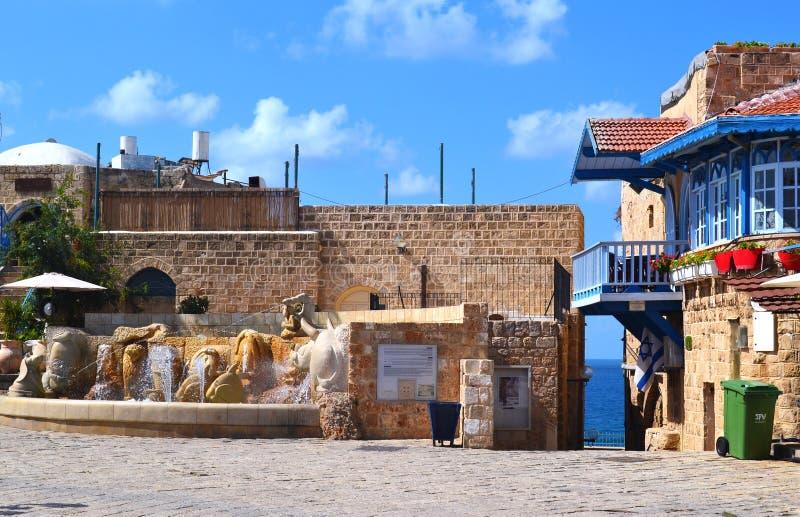 Springbrunn för Jaffa stadfyrkant royaltyfri foto