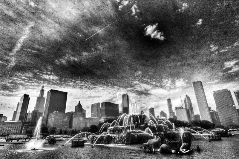 Springbrunn i Chicago royaltyfri bild