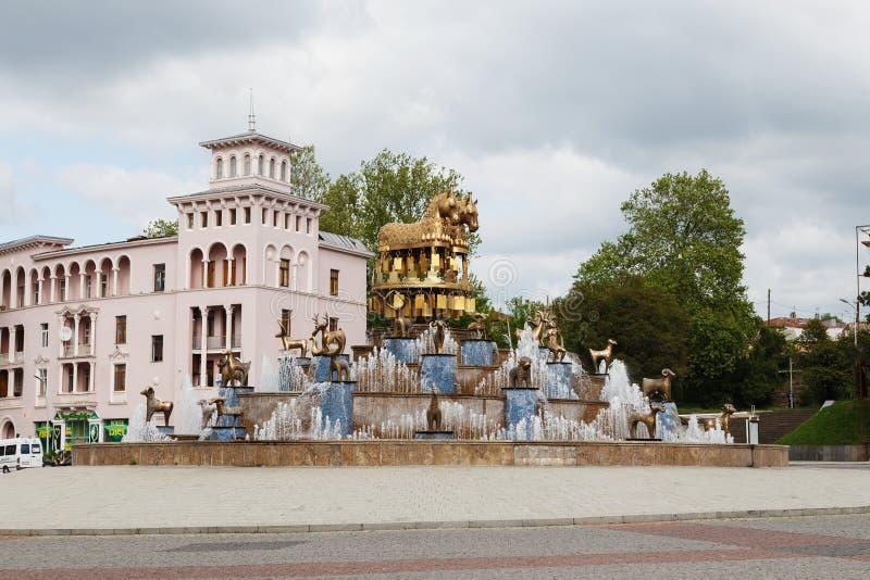 Springbrunn i Kutaisi, Georgia royaltyfria bilder