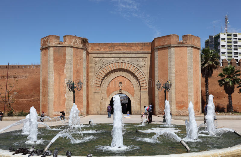 Springbrunn i Rabat, Marocko royaltyfri fotografi