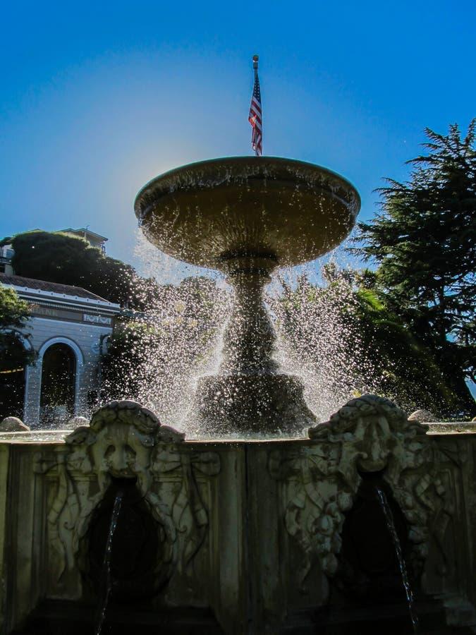 Springbrunn i Sausalito royaltyfri fotografi