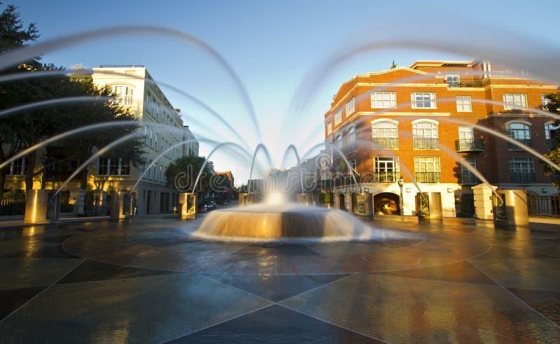 Springbrunn strandPark, Charleston SC royaltyfri foto