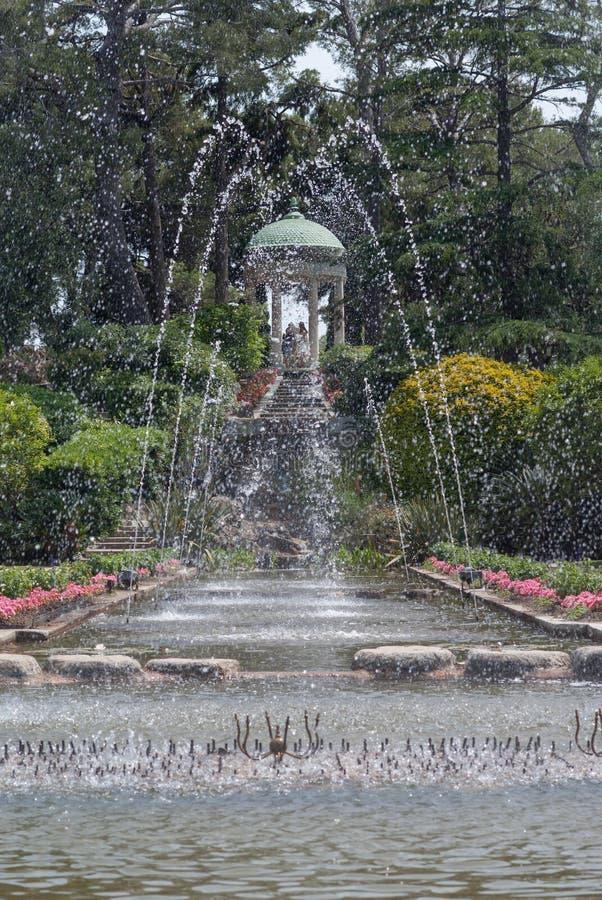 Springbrunnar på Vlilla Ephrussi de Rothschild arkivfoto