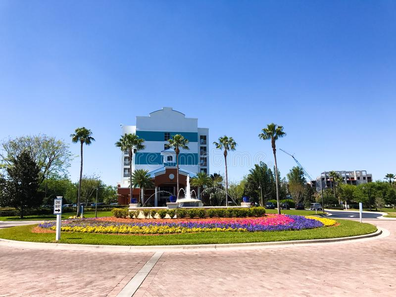 Springbrunnarna, semesterort för blå gräsplan, Orlando, Florida arkivbild