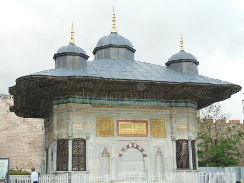 Springbrunnen av Ahmed III, Istanbul arkivfoton