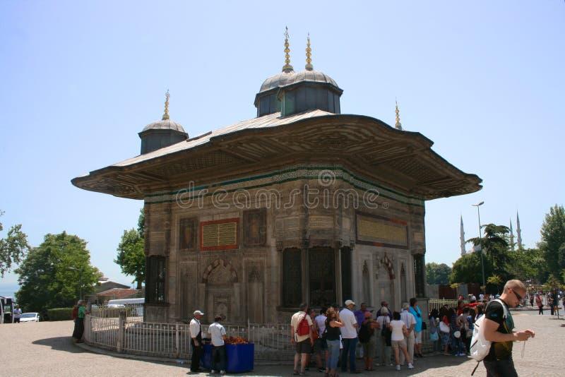 Springbrunnen av Sultan Ahmed arkivbilder