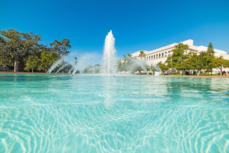 Springbrunnen i Balboa parkerar arkivfoto