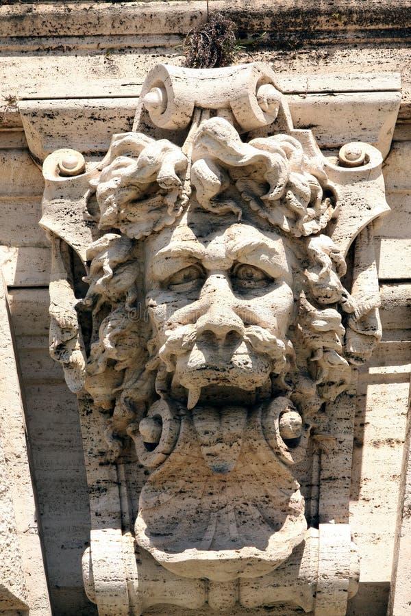 Springbrunnhögsta domstolen Rome Italien arkivfoton