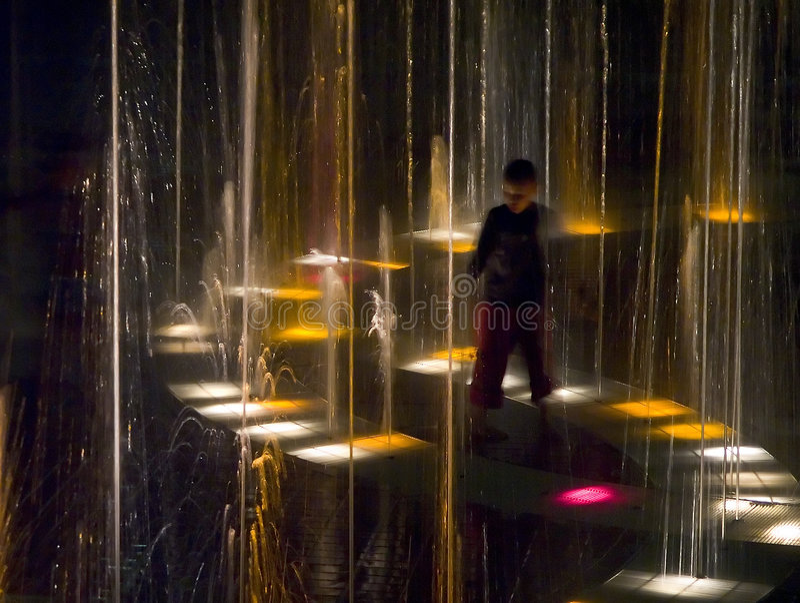 Springbrunnlampa Fotografering för Bildbyråer