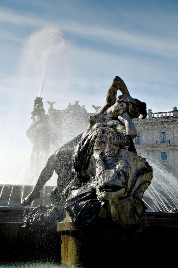 springbrunnrepubblica roma arkivbilder