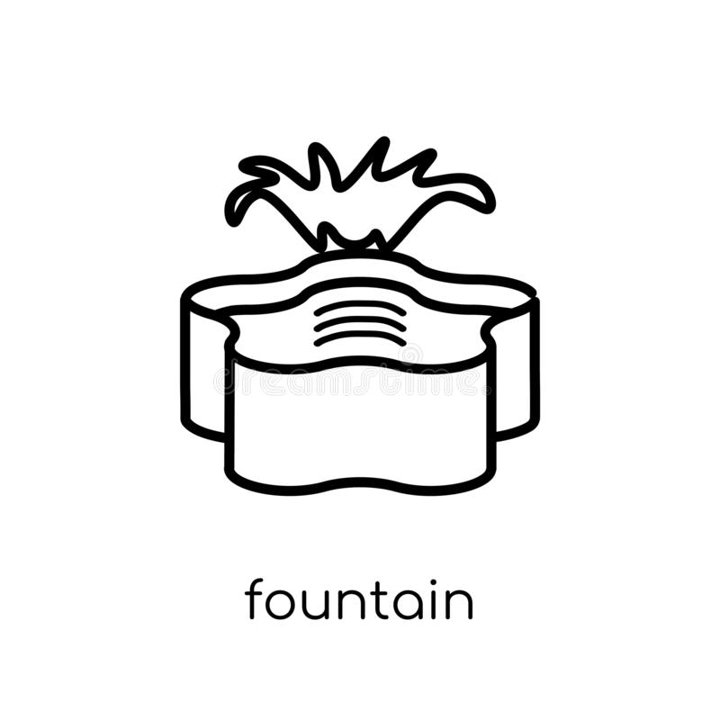 Springbrunnsymbol  royaltyfri illustrationer