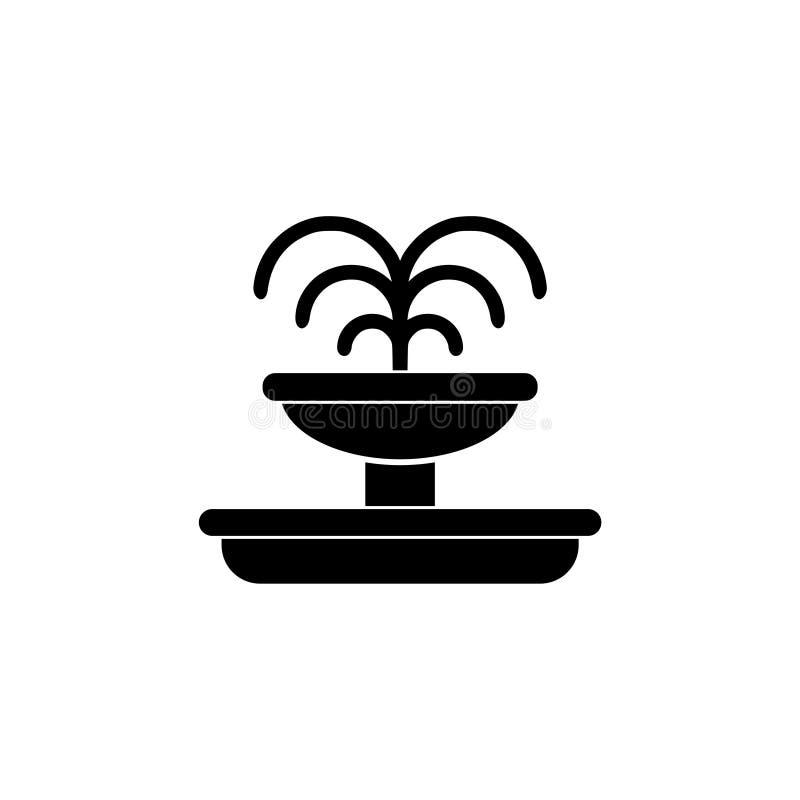 Springbrunnsymbol eller logo vektor illustrationer