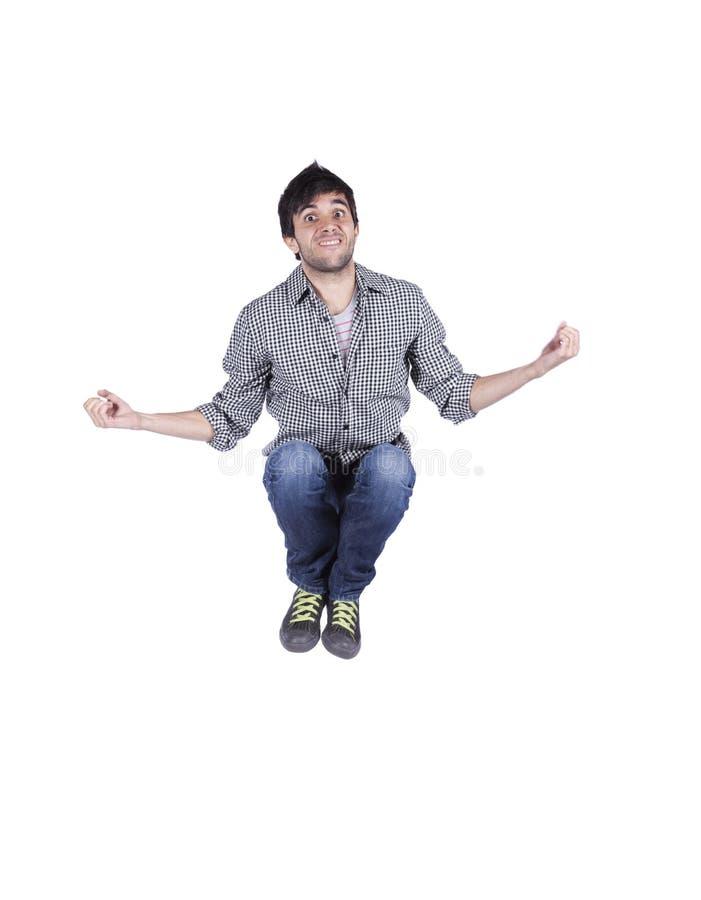 Springen des jungen Mannes stockbilder