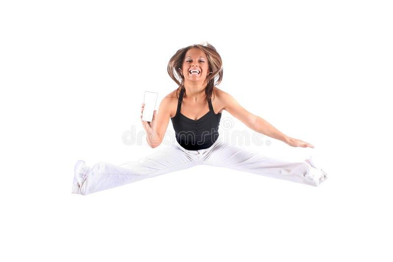 Download Springen für Freude stockbild. Bild von übung, jeans, ausdruck - 871733