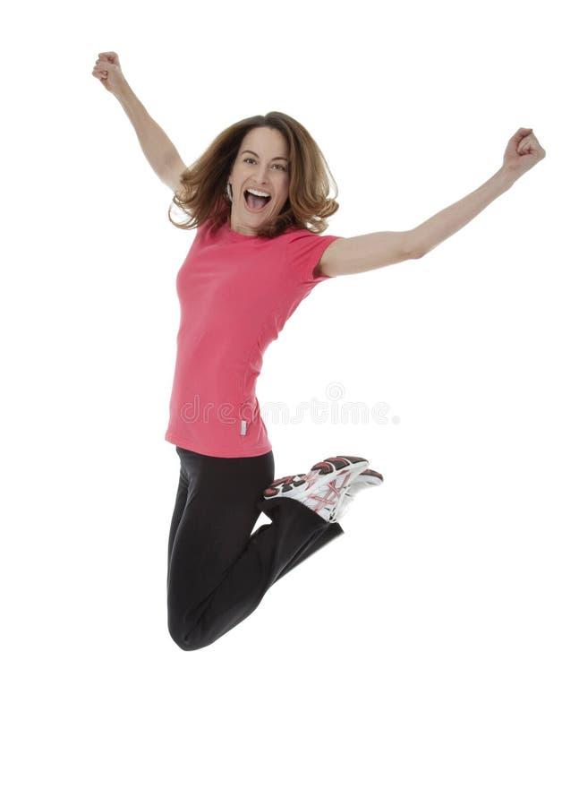 Springen Sie für Freude stockfotos