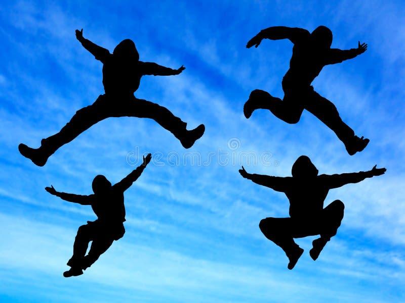 Springen Sie Mann stockfotografie