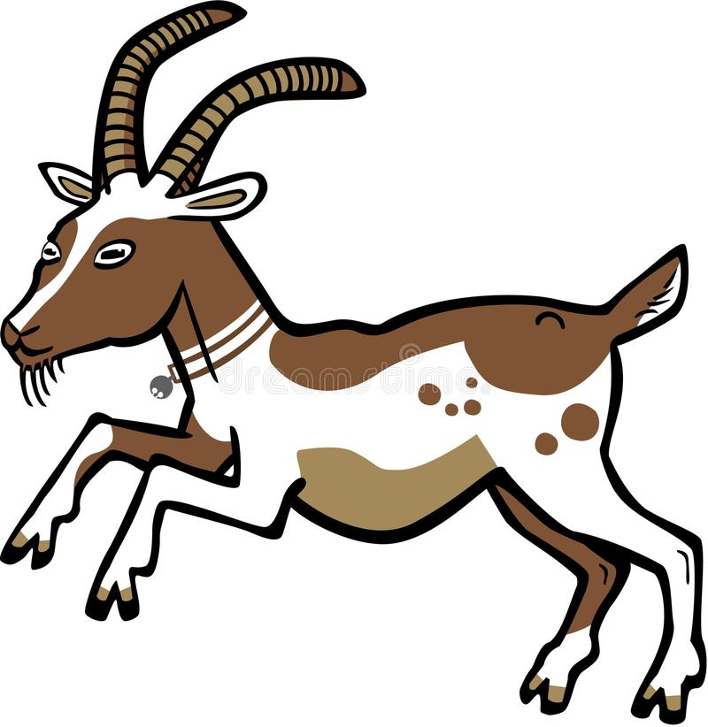 Springen von Billy Goat lizenzfreies stockfoto