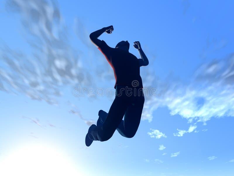 Springen zum Himmel stock abbildung