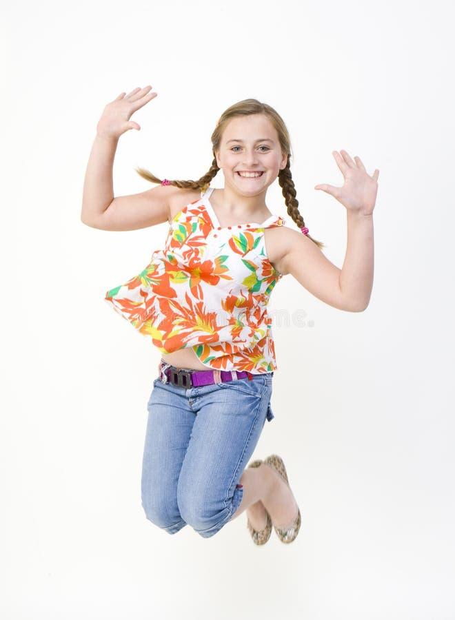 Springend Meisje royalty-vrije stock foto
