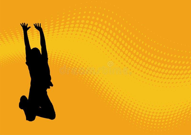 Springend mensen golvend patroon stock illustratie