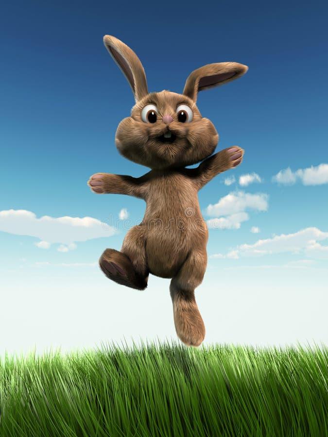 Springend Pasen konijntje