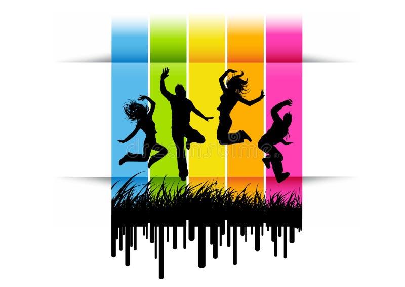 Springende Actieve Mensen vector illustratie