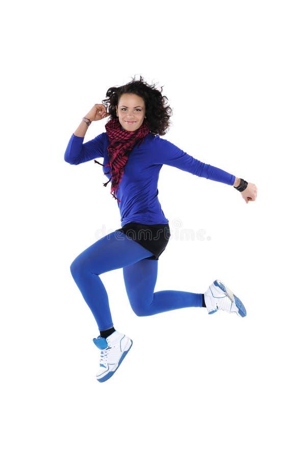 Springende danser stock foto