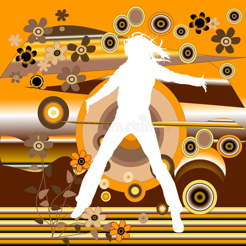 Springende Frau vektor abbildung
