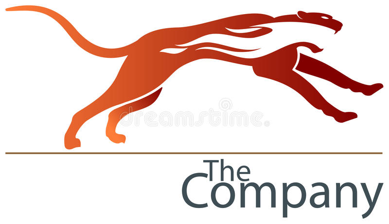 Springende jachtluipaard vector illustratie