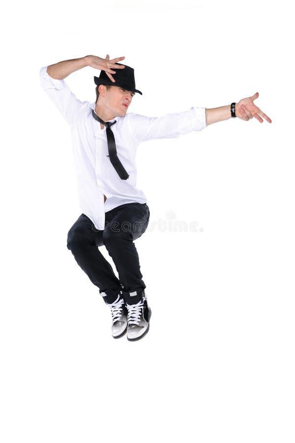 Springende jonge danser royalty-vrije stock foto