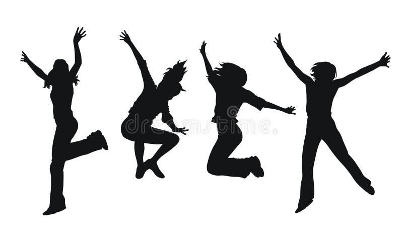 Springende Mädchen lizenzfreie abbildung