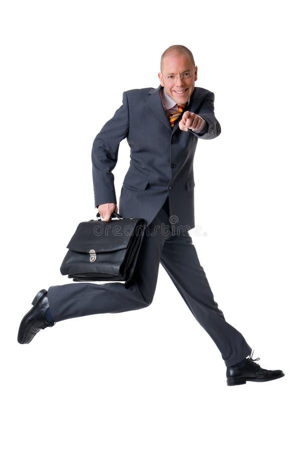Springende zakenman royalty-vrije stock afbeelding