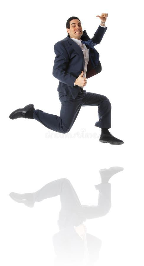Springender Mann lizenzfreie stockfotos