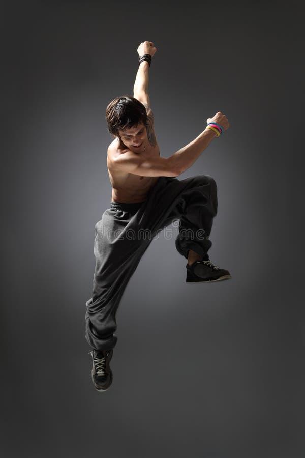 Springender Tänzer lizenzfreie stockbilder